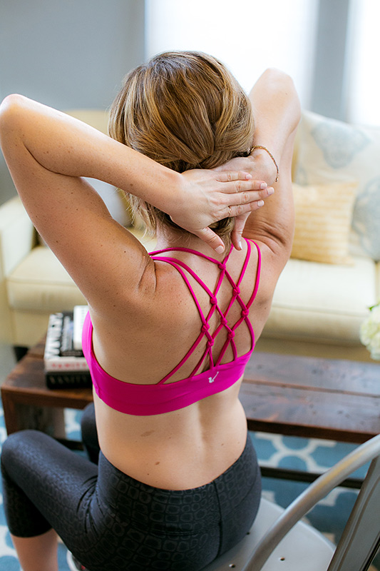 Sitting Butterfly Posure Exercise from QTEK Fitness and Health Neck Shoulder Exercises