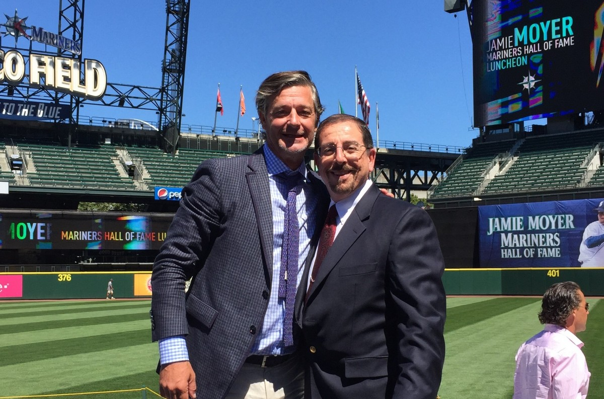 Jamie Moyer Mariners Hall of Fame 2015 Yousef Ghandour QTEK Products Therapulley