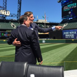 Long-time Friends, Moyer and Ghandour on the Field